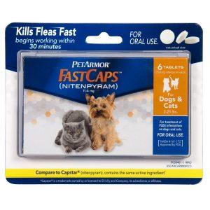 best flea pill for dogs: PetArmor FastCaps (nitenpyram