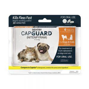 best flea pill for dogs: SENTRY Capguard (nitenpyram)
