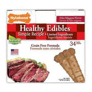 Nylabone Healthy Edibles Dog Chew Treat Bones